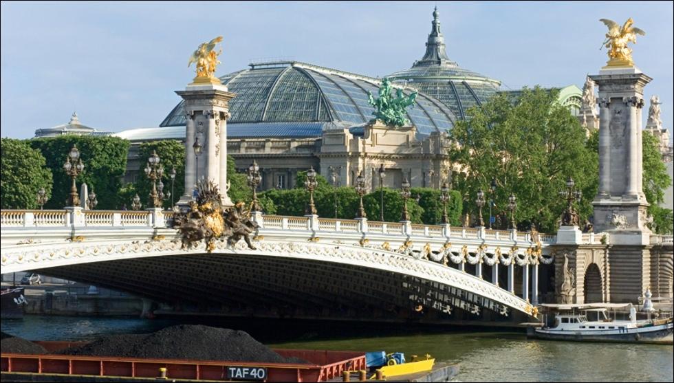 Caractéristique de l'art décoratif de la IIIème République, ce pont est une arche métallique de 109 mètres de long. Il a été le premier à franchir la Seine d'un seul jet.