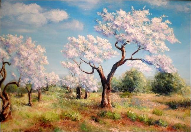 Un nuage paradisiaque, (... ) mon (... ), a jeté sur la terre une parure d'avril.