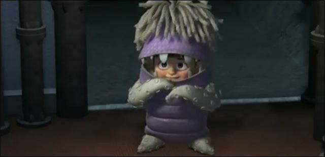 D'où provient la partie violette du déguisement de Boo ?