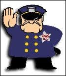 Les policiers...