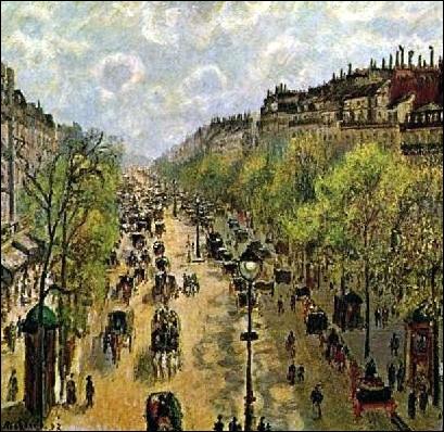 Quel peintre de cette période faste pour les arts, est par le nom d'une de ses oeuvres à l'origine de l'impressionnisme et de la 1ere Exposition en 1874 de ce mouvement ?