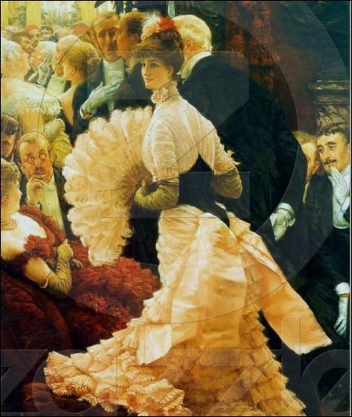 Le mode  Belle Epoque  c'est aussi l'abondance de draperies qui tombent en cascades le long du dos de la jupe des mondaines et appelées ... .