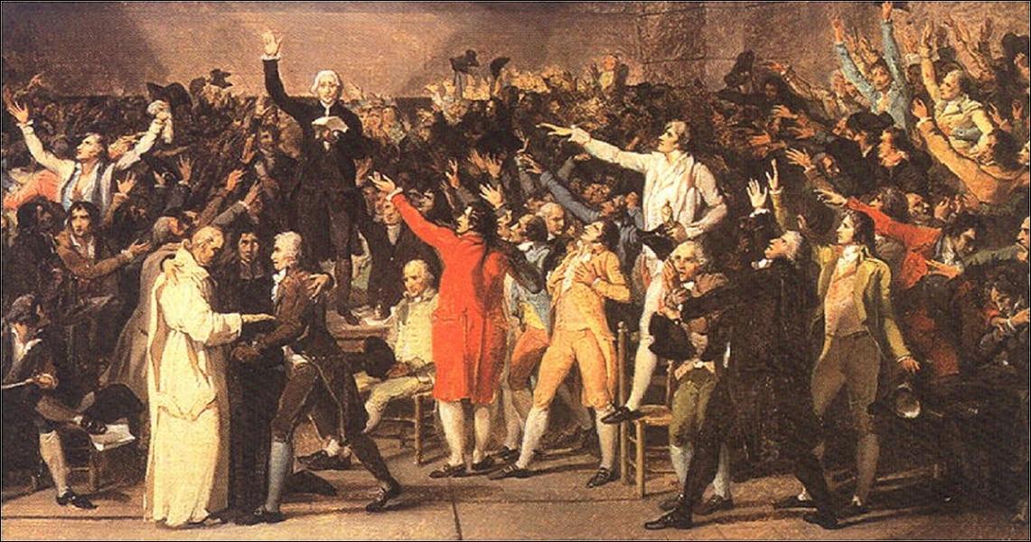 Quel serment historique (20 juin 1789) permet au tiers état de conquérir le pouvoir, de faire les lois et d'instaurer un système politique où le pouvoir du roi est limité par une constitution ?