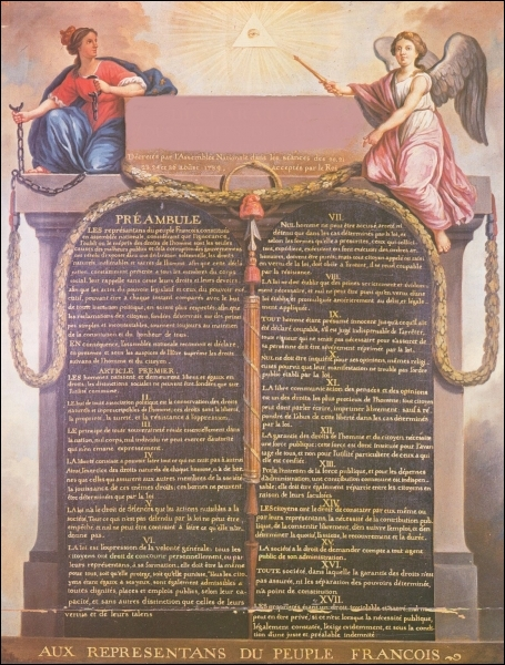 Quel texte essentiel est adopté le 26 août 1789 ?