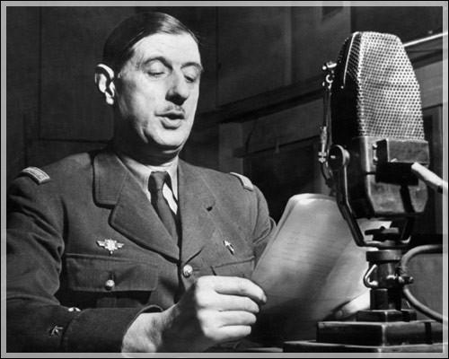 Quel acte fondateur de la France Libre, d'une importance considérable, a lieu le 18 juin 1940 ?