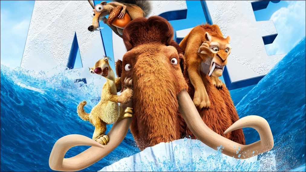 L'âge de glace. Une équipe composée d'un paresseux, d'un tigre et d'un mammouth. Original mais Disney ou pas Disney ?