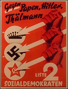 En Allemagne de 1919 à 1933 la vie politique est troublée et de nombreux partis politiques possèdent des groupes d'autodéfense. Quel est le nom du groupe d'autodéfense du Parti social-démocrate ?
