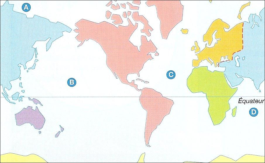 A quel continent correspond le bleu ?