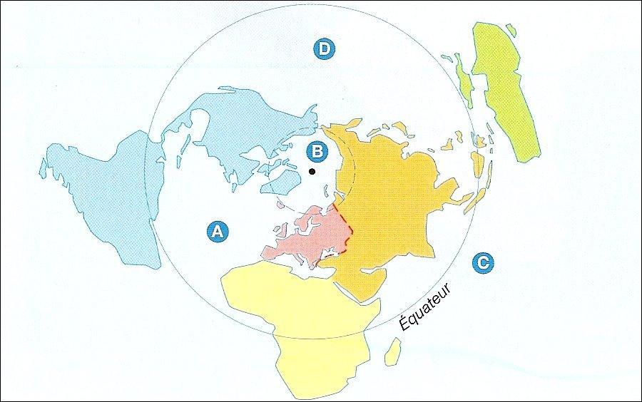 A quel continent correspond la couleur verte ?