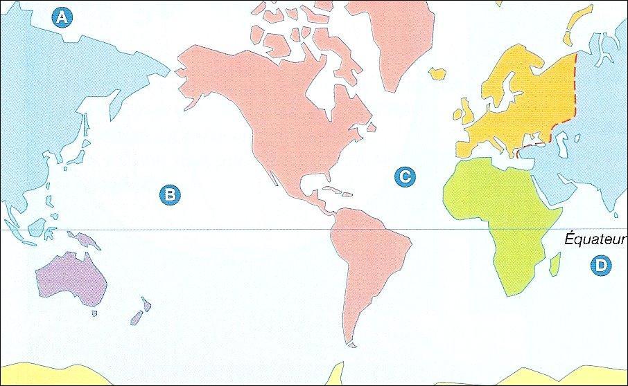 A quel continent correspond le violet ?