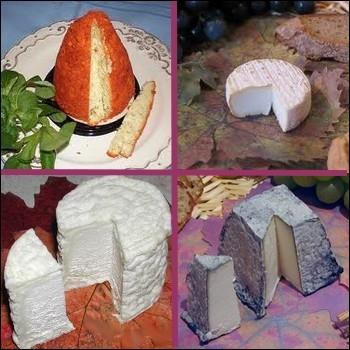 Lequel de ces fromages n'est pas fabriqué avec du lait de chèvre ?