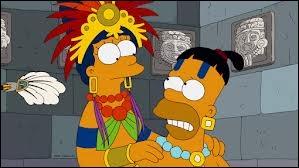 Dans l'Horror Show 23, qui les Mayas sacrifient-ils à la place d'Homer ?