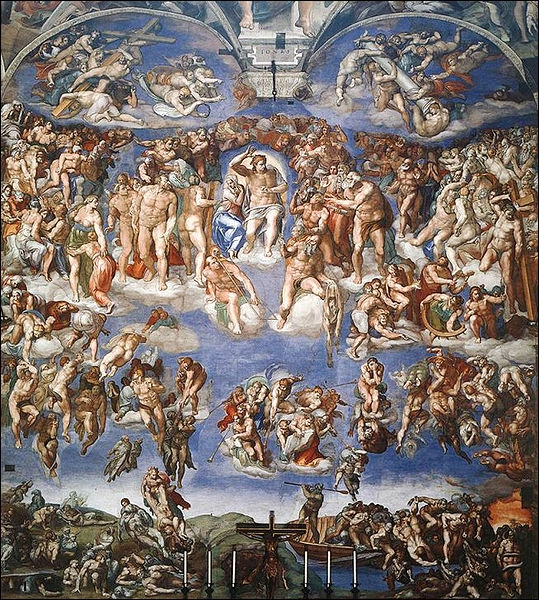 Peintre, sculpteur, poète, architecte (... ) italien, nous lui devons beaucoup de chefs d'oeuvres dont La Conversion de saint Paul (chapelle Paolina du Vatican) :