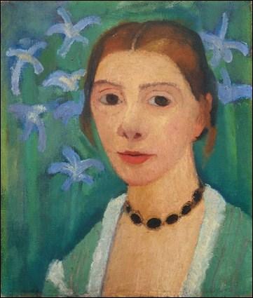 Autoportrait avec iris.