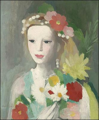 Jeune fille à la guirlande de fleurs.