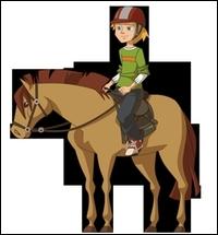 Comment se nomme le poney de Kevin ?