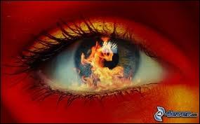 Quand je sens dans tes yeux comme un départ de feu, mon amour oublie que je l'aime ...