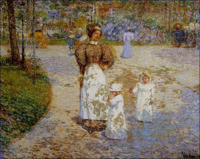 Qui a peint Printemps à Central Park ?