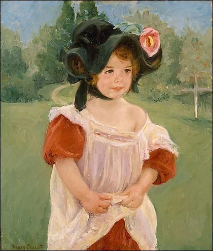 Qui a peint Margot debout dans un jardin au printemps ?