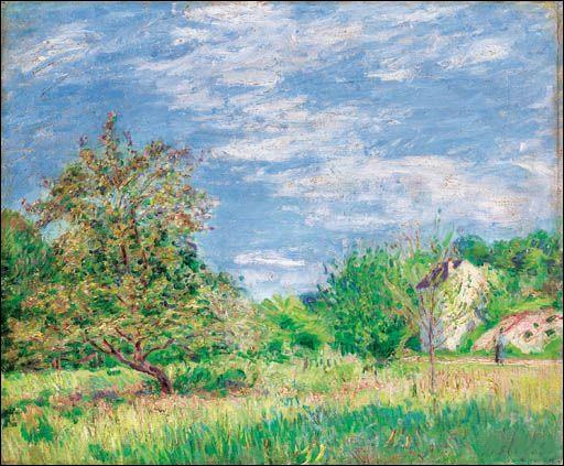 Qui a peint Verger au printemps ?