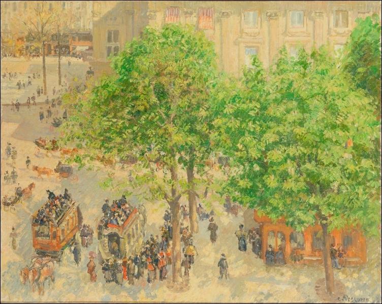 Qui a peint Place du Théâtre français au printemps ?