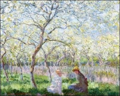 Qui a peint Giverny au printemps ?