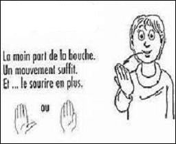 Le langage des signes fut interdit en 1880, date de l'intolérance manifestée à l'égard des sourds, par un congrès qui se tint à Milan. Ce temps est révolu. Que vous transmet ce garçon de ma part ?