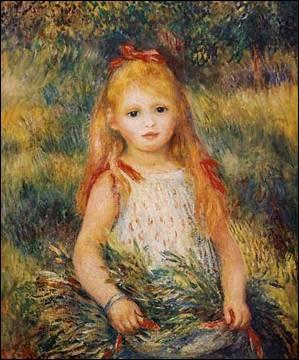 Qui a peint  Petite fille à la gerbe  ?