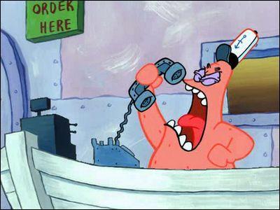 Dans 'la course au titre' combien de temps Patrick s'est comporté comme un imbécile?