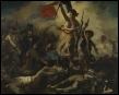 Quel tableau, réalisé par Eugène Delacroix, rend hommage aux émeutes populaires ayant marqué les  Trois Glorieuses  ?