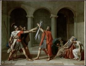 A quel peintre du XIXe siècle et chef de file du mouvement néo-classique doit-on le tableau intitulé  le Serment des Horaces  ?