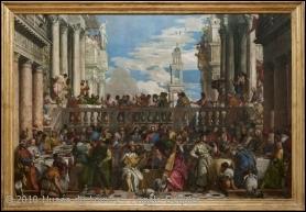 Quelle grande huile sur toile, exposée à l'origine au monastère San Giorgio Maggiore de Venise, est l'oeuvre de Paul Véronèse ?