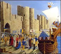 Quelle ville de Camargue, base navale de ses départs en croisade, décide-t-il de fortifier ?