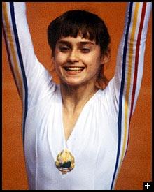 Quelle est cette gymnaste roumaine ?