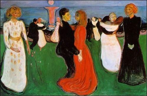 Ce peintre expressionniste expose à Oslo en 1900 ce tableau  La danse de la vie , considéré comme une synthèse de ses oeuvres précédentes ... .