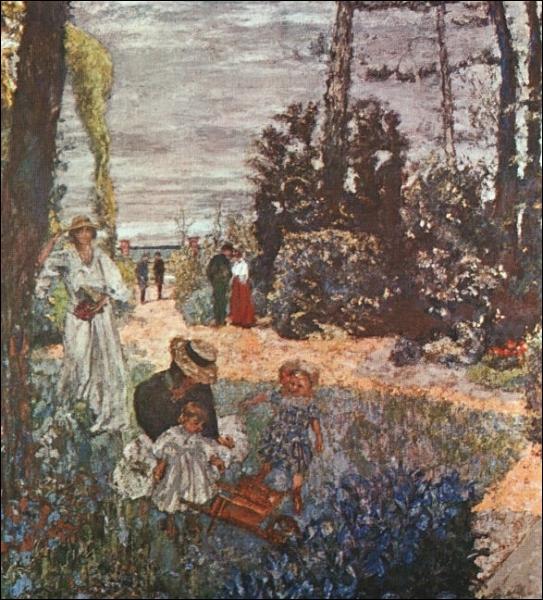 1901, c'est la date de la création de cette oeuvre  Le déjeuner à Vasouy  par ce peintre surnommé  le nabi zouave  ... .
