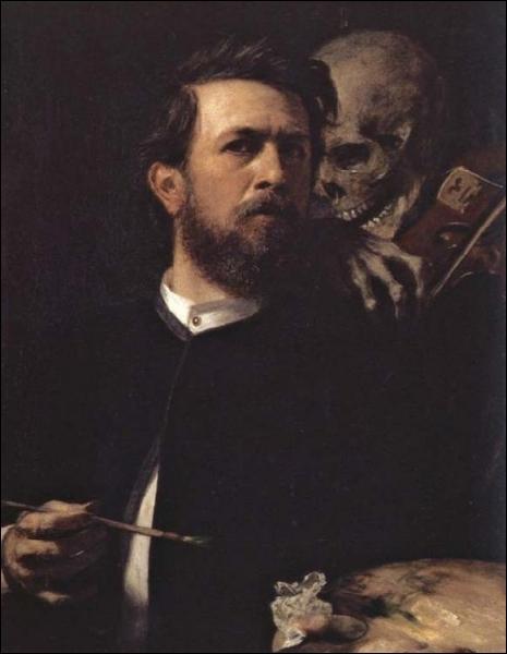 Quel peintre, dessinateur, graphiste et sculpteur symbolique suisse, hanté par le thème de la mort, décède en janvier 1901 ?