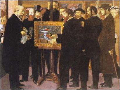 A qui doit-on ce tableau rendant hommage à Paul Cézanne et exposé à la Galerie Nationale des Beaux-Arts en 1901 ?
