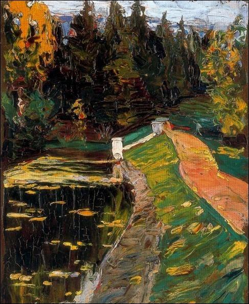 La peinture de cet artiste russe semble encore à cette époque proche du néo-impressionnisme comme le témoigne ce tableau de 1901... ...