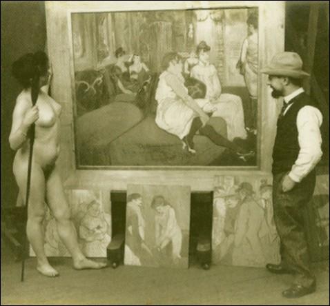 Quel peintre, ici avec un de ses modèles, meurt à l'âge de 37 ans le 9 septembre 1901 ?