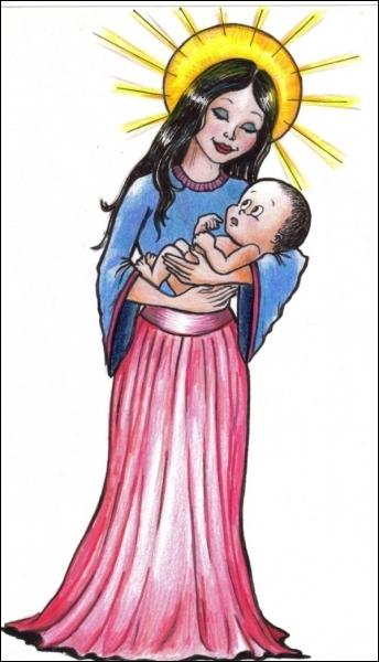 Sainte Marie, mère de Dieu, vous qui l'avez eu sans le faire ...