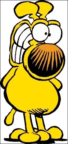 Comment se nomme ce chien jaune, qui est la hantise des facteurs ?