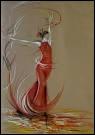 Moins connue, cette artiste peint des danseurs de deux mètres de hauteur :