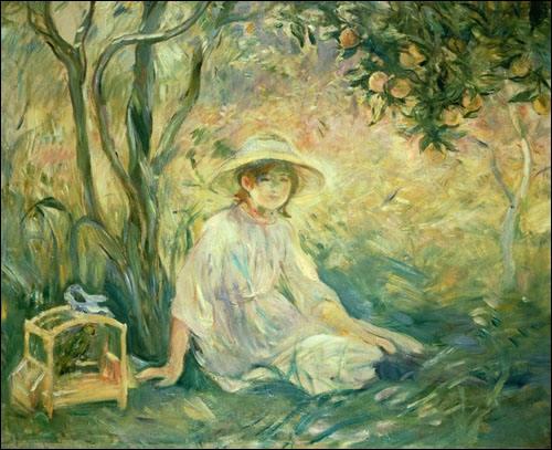 Une jeune fille peinte par une jeune femme :