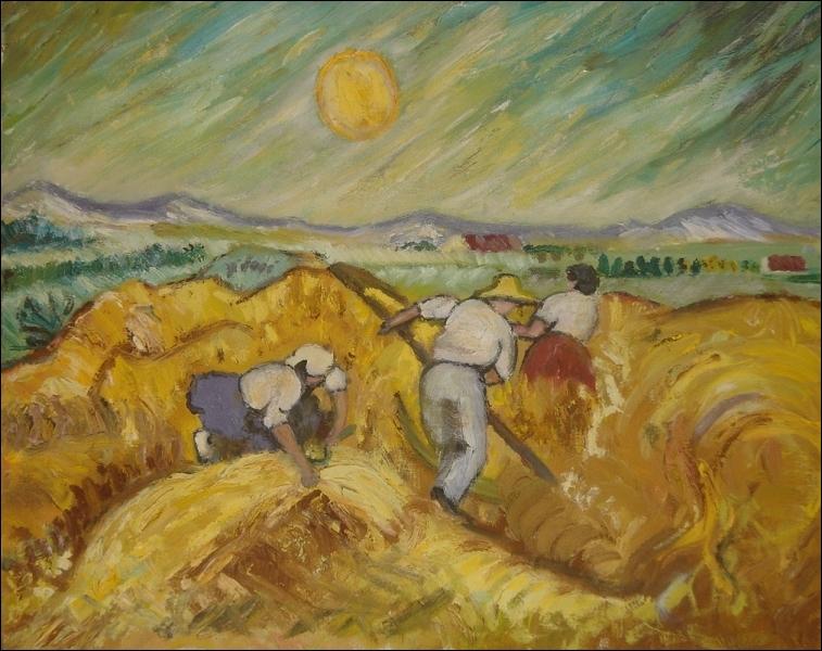 Quelle est la taille approximative de cette toile de Vincent van Gogh ?