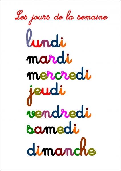 Quelle lettre faut-il ajouter à celles composant le nom d'un jour de la semaine, qui est  gras  une fois dans l'année, pour pouvoir écrire le nom de la capitale de l'Espagne ?