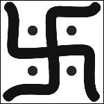 Quel mouvement religieux ou personnage a pour symbole le svastika (signe qui inspira Hitler pour créer la croix gammée) ?