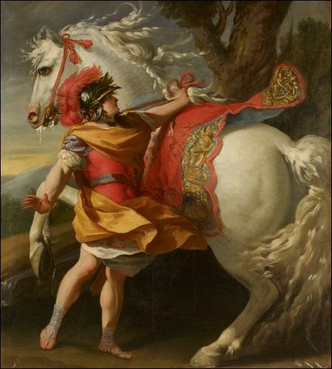 Si Alexandre le Grand a pu dire  Veni, vidi, vici , c'est parce qu'il a remporté ses batailles haut la main. Mais on oublie que son cheval en a bavé. Quel est le nom de ce cheval ?