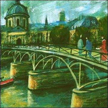 Quel pont très romantique de Paris est évoqué par Georges Brassens dans sa chanson   Le vent   ?