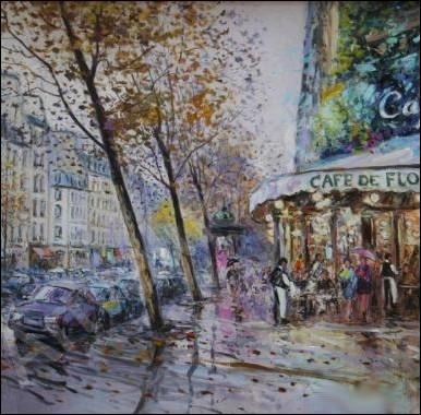Il n'y a plus d'après... A Saint-Germain-des-Prés... . .  , une intemporelle chanson de l'auteur-compositeur-interprète ... .
